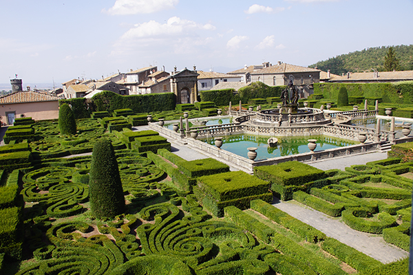 Bike and visit the gardens of Villa Lante at Bagnaia